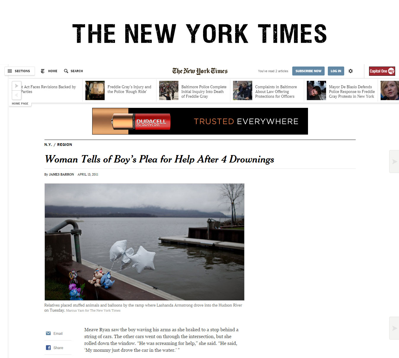 Susan Hughes New York Times wrongful death